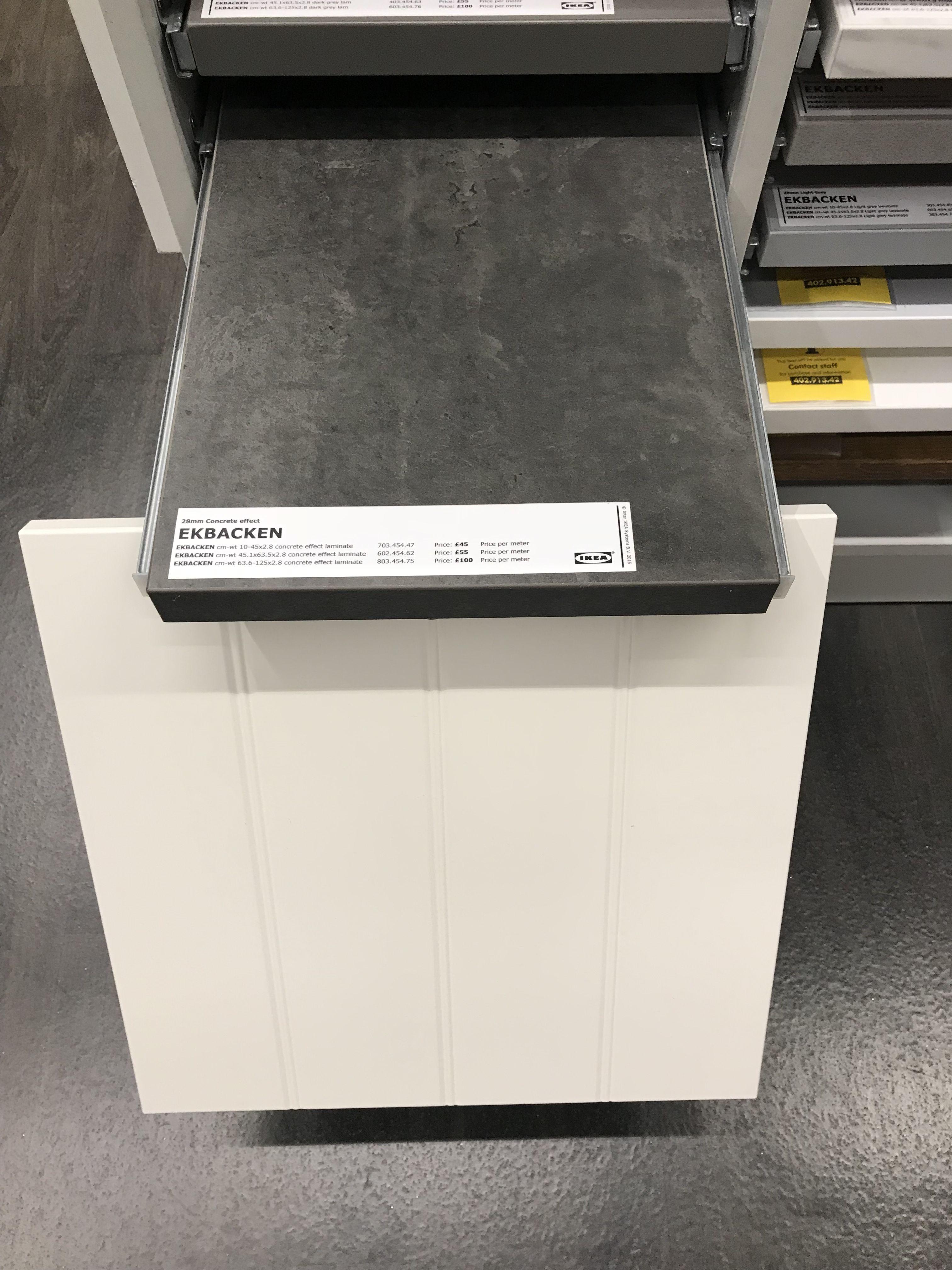 Concrete Effect Worktop Hittarp Door Ikea Keuken Keuken Ideeen Ikea