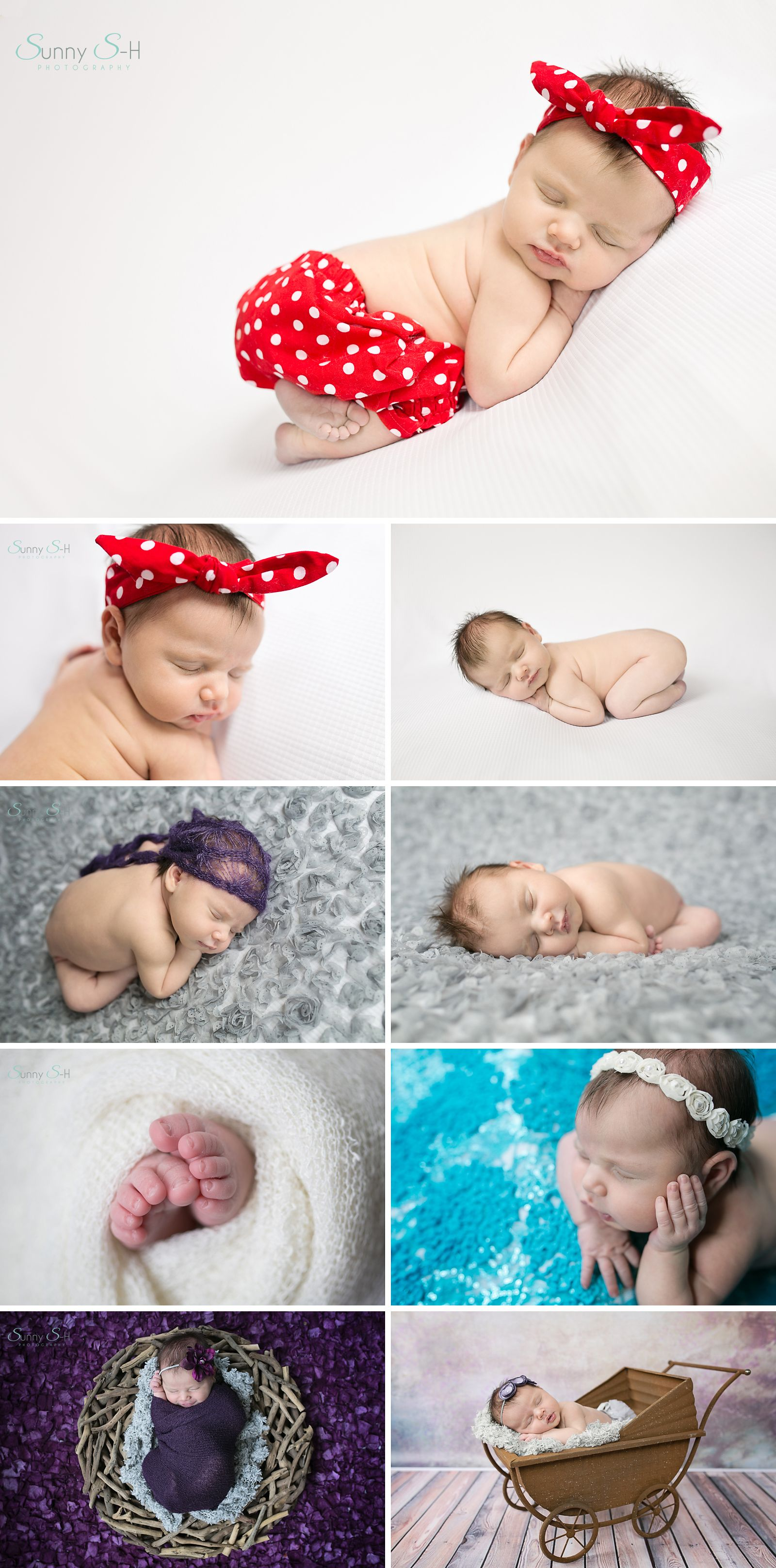 9 day old Amelia. Sweet newborn baby girl newborn photography ...