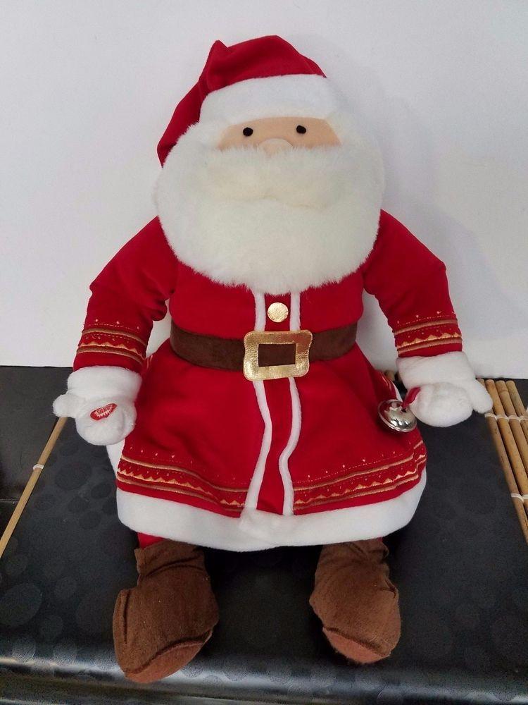Hallmark Polar Express Talking Plush Santa Claus Jingle Bell 20 Warner Brothers Plush Santa Claus Santa Claus Figure Santa Claus