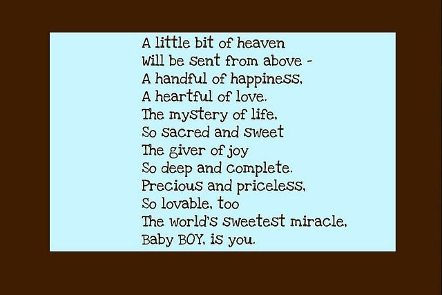 Sweet Little Boy Poem Mom Kid Things 3 Baby Baby Poems