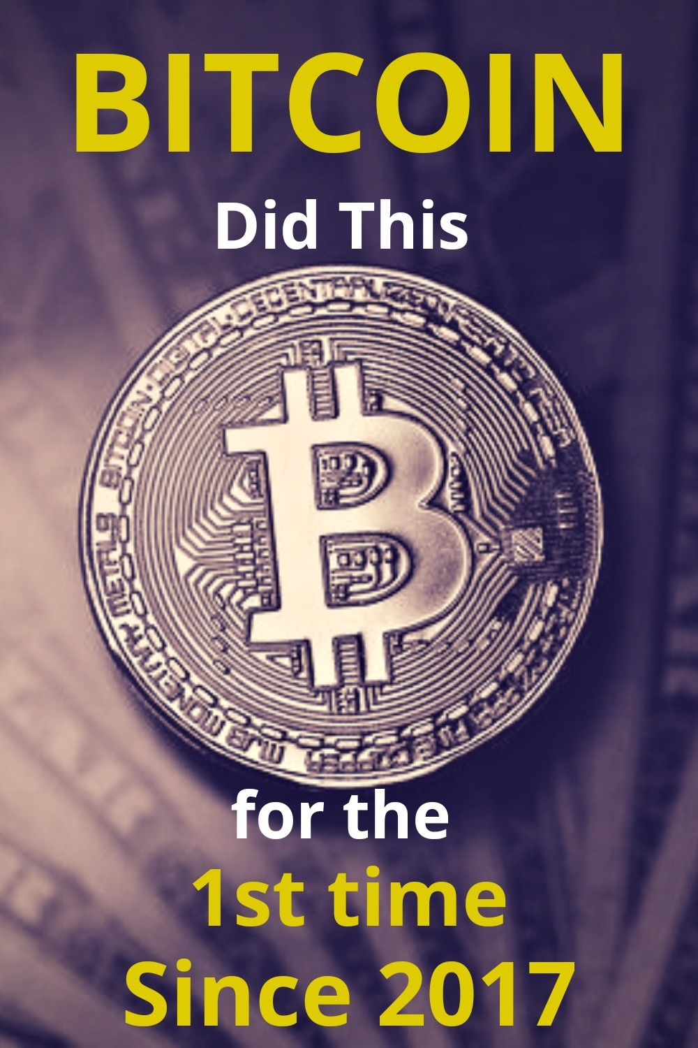 Bitcoin did this for the 1st time since 2017 in 2020