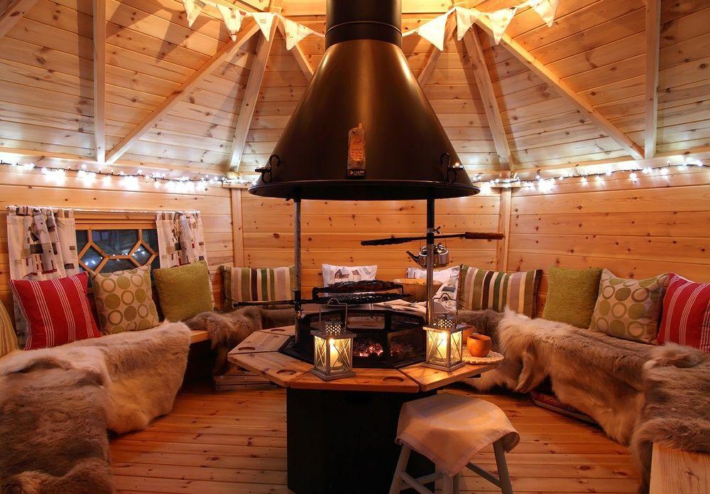 Domik V Shotlandii Bbq House Bbq Hut Indoor Fire Pit