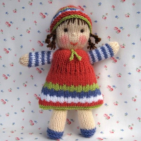 e57fd2b650025a Lindy Lou and little doll PDF knitting pattern by dollytime