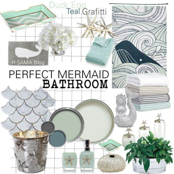 PERFECT MERMAID Bathroom By Hsama On Polyvore Featuring Interior - Whale bathroom decor for small bathroom ideas