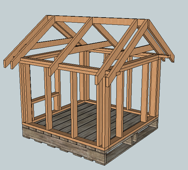 Ana white build a east fork free doghouse or playhouse for Simple to build house plans
