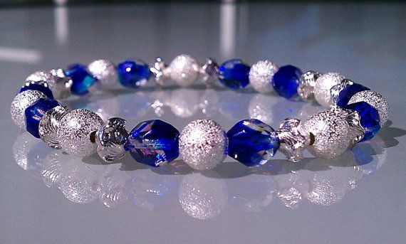 Czech Crystal Bracelet. Blue crystal and by SparklyLilThings