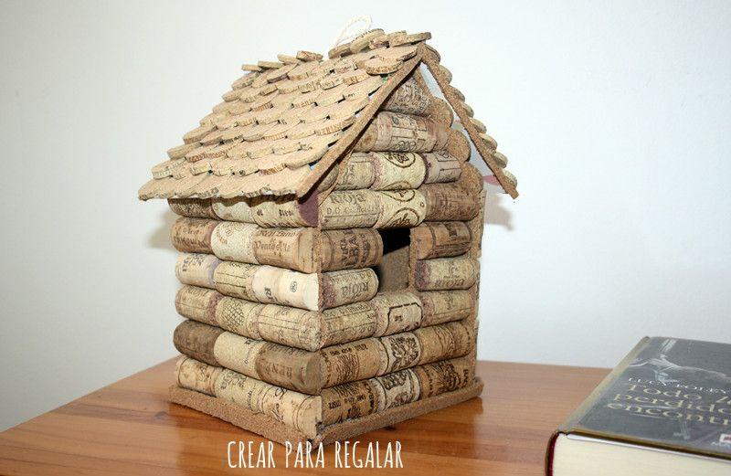 DIY: Casita de pájaros con tapones de corcho | Tapon, Corchos y Pájaro