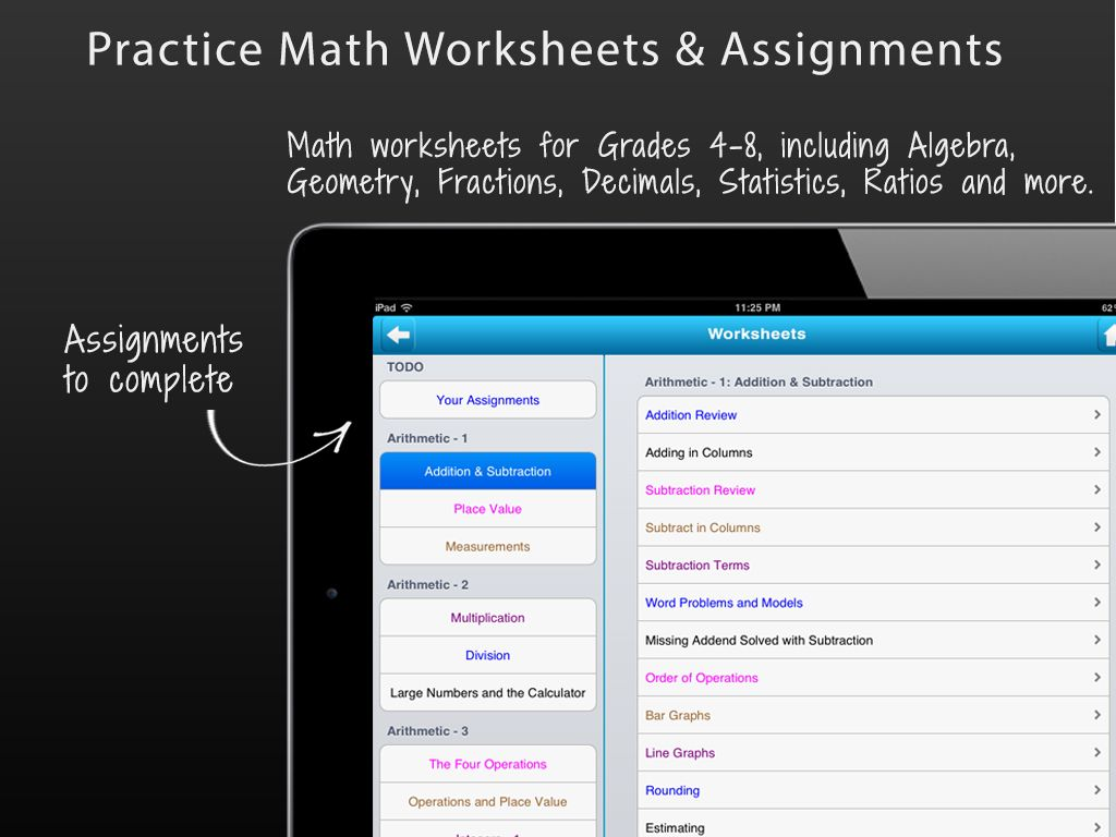 Practice A Number Of Math Worksheets And Assignments Using