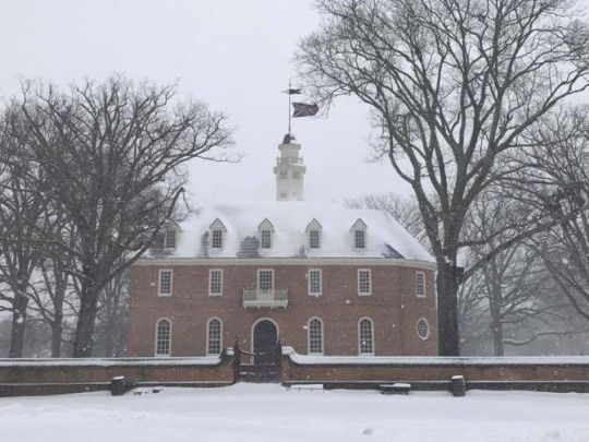 Colonial Williamsburg on this cold, snowy day!