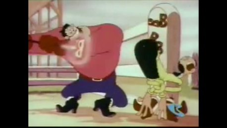 Rodeo Romeo - Olive Oyl in trouble again!