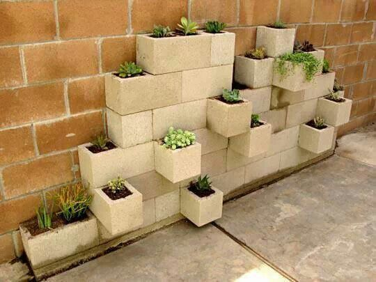 Hollow-blocks for planters | Ideas for the Backyard Lawn | Pinterest ...