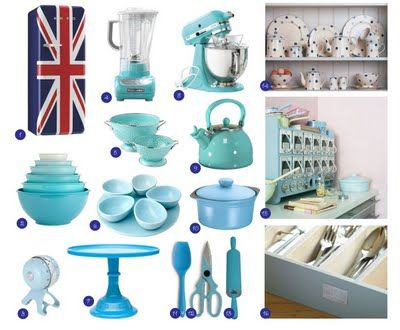 Monday Blue Matching Kitchen Appliances And Accessories For My