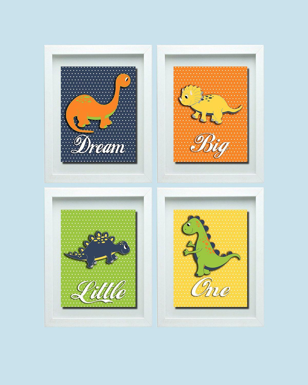 Dinosaur Nursery Decor Dinosaur Nursery Wall Art Dream