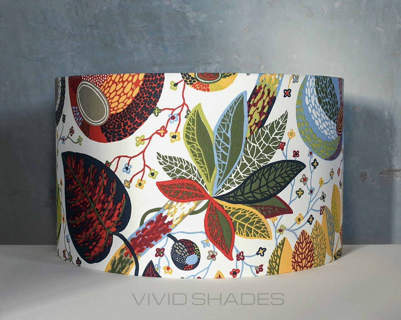 Scandinavian Fabric Lampshade 30cm To 45cm Handmade By Vivid