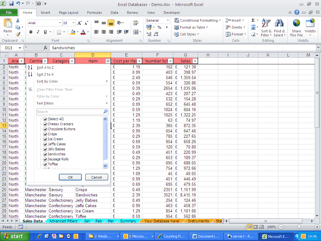 Excel Tip How To Do Calculations On A Filtered List