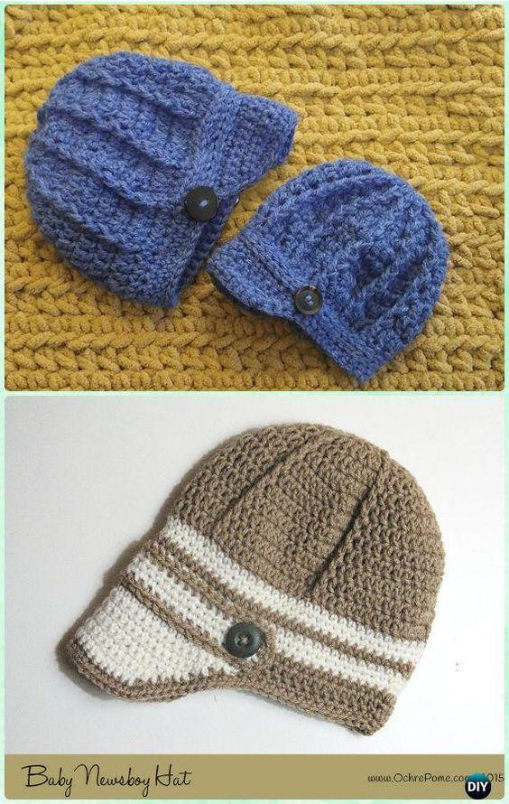 Crochet Baby Newsboy Hat Free Patterns - Crochet Boys Sun Hat Free ...