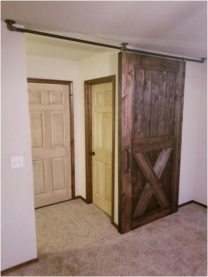12 Cool Barn Door Closet Ideas You Can Diy 4 Rustic Barn Door Diy Barn Door Hardware Wood Doors Interior