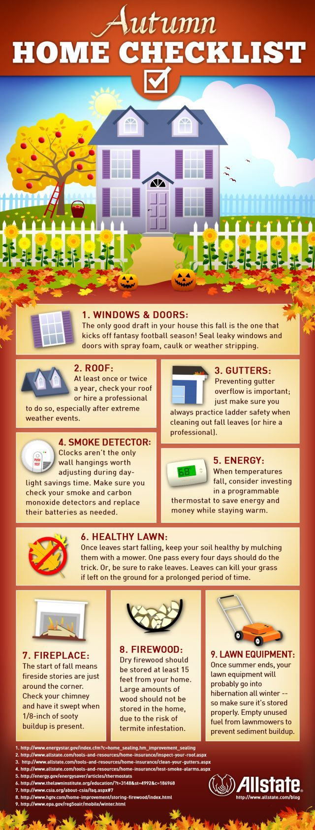 Selling your house checklist - Autumn Home Checklist