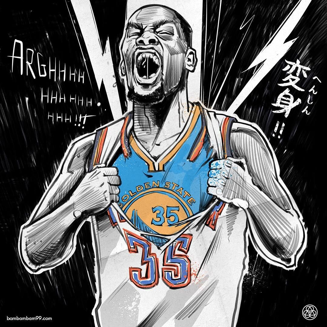 Kevin Durant The Reveal Illustration basketball gestures