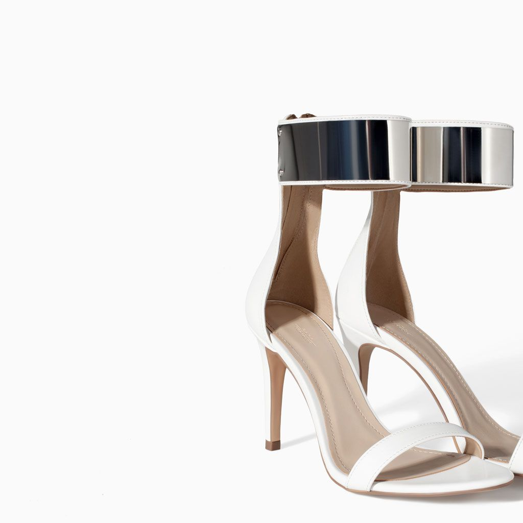 ZARA - NEW THIS WEEK - HIGH HEEL SANDAL WITH METALLIC ANKLE STRAP