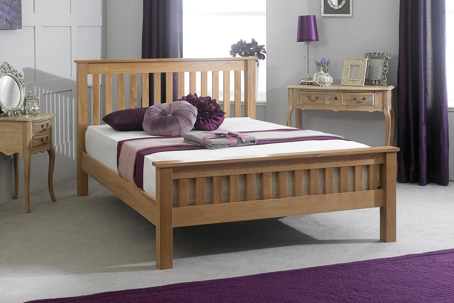 Roma Solid Oak Bed Frame 5ft - King Size | Camas y Productos
