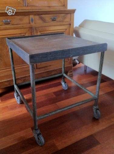 table établi -meuble industriel pour loft ameublement hauts-de