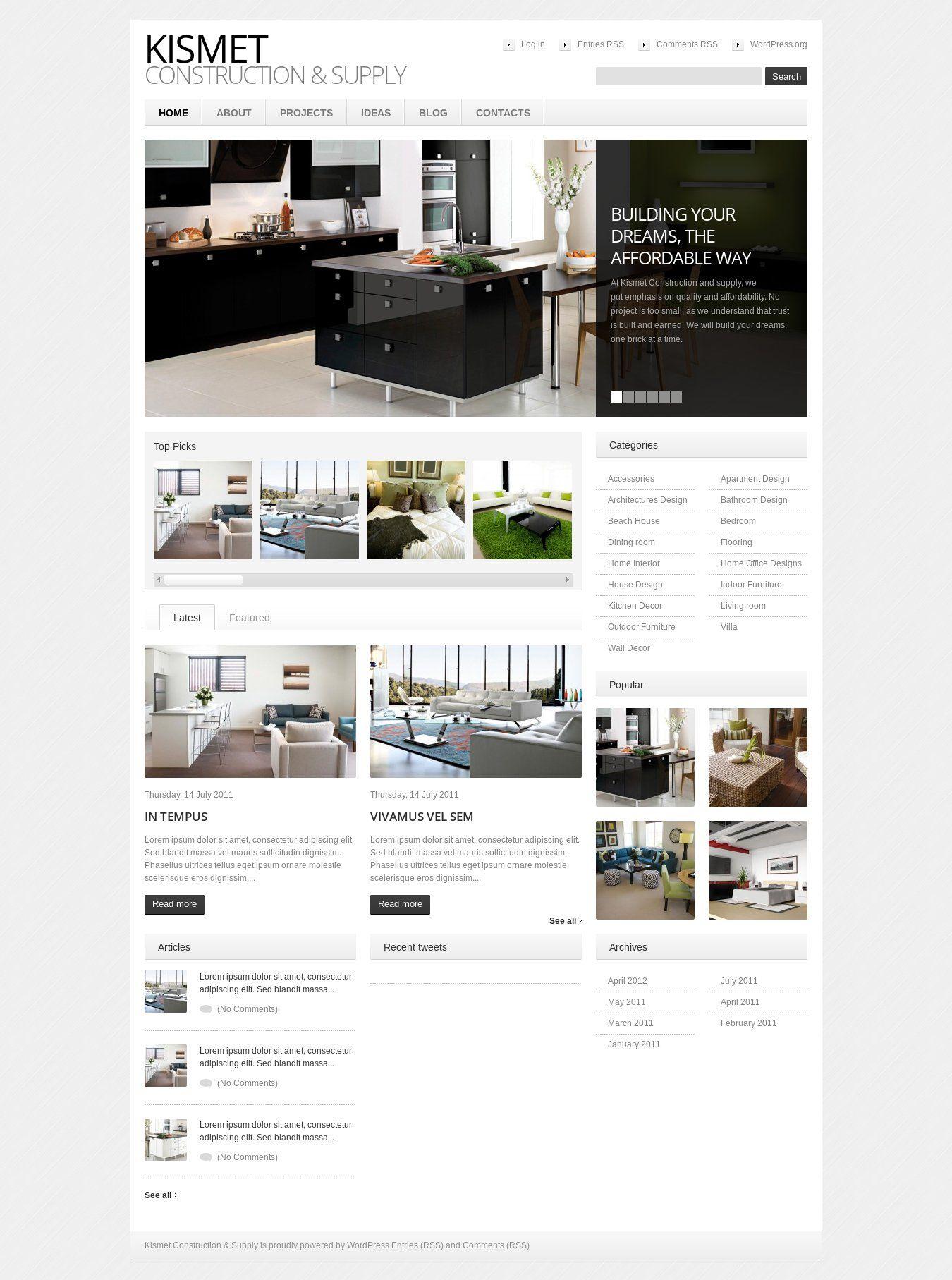 Wordpress Site Kismetconstruction Uses The Theme1530 Wordpress