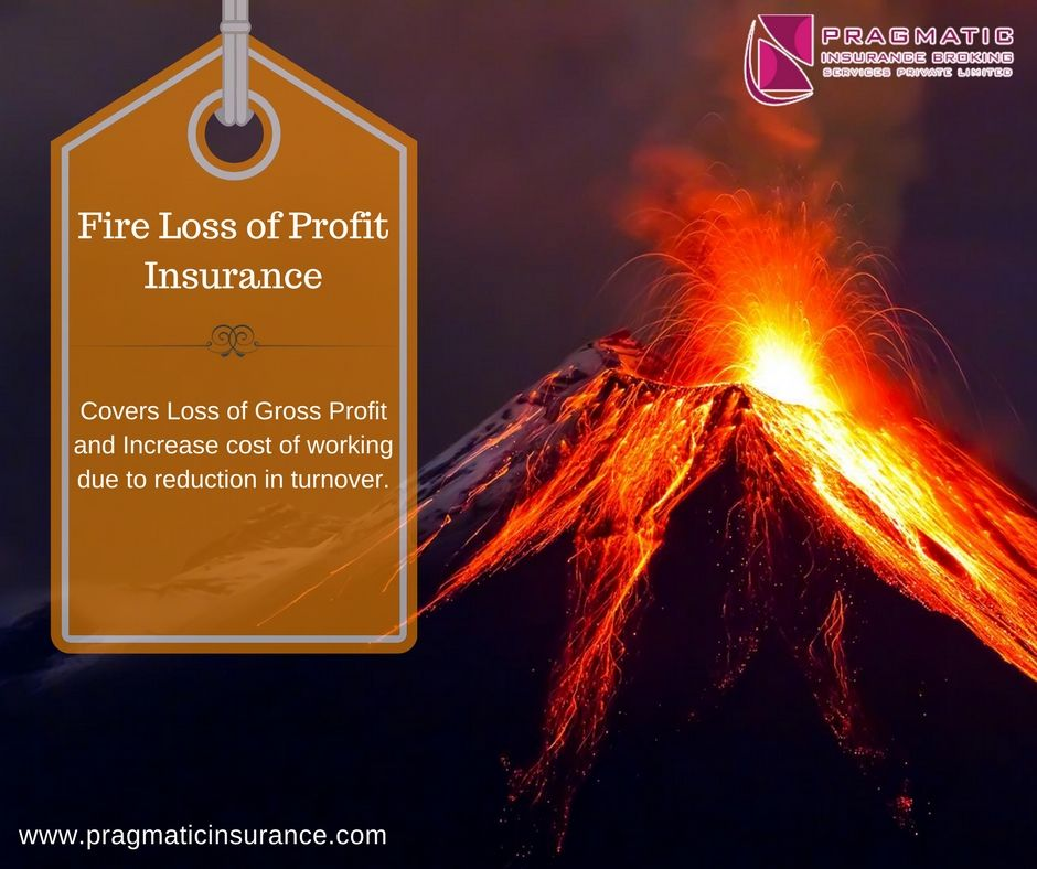 Fire loss of profit insurance covers loss of gross