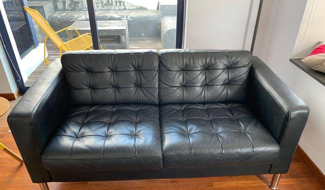 Ikea Leather Landskrona Sofa 2 Seater Furniture Sofas On Ikea Sater Dark Brown Leather 2 Seater Sofa Amazon Com Masters Of Cove Ikea Sofa Sofa Sofa Furniture