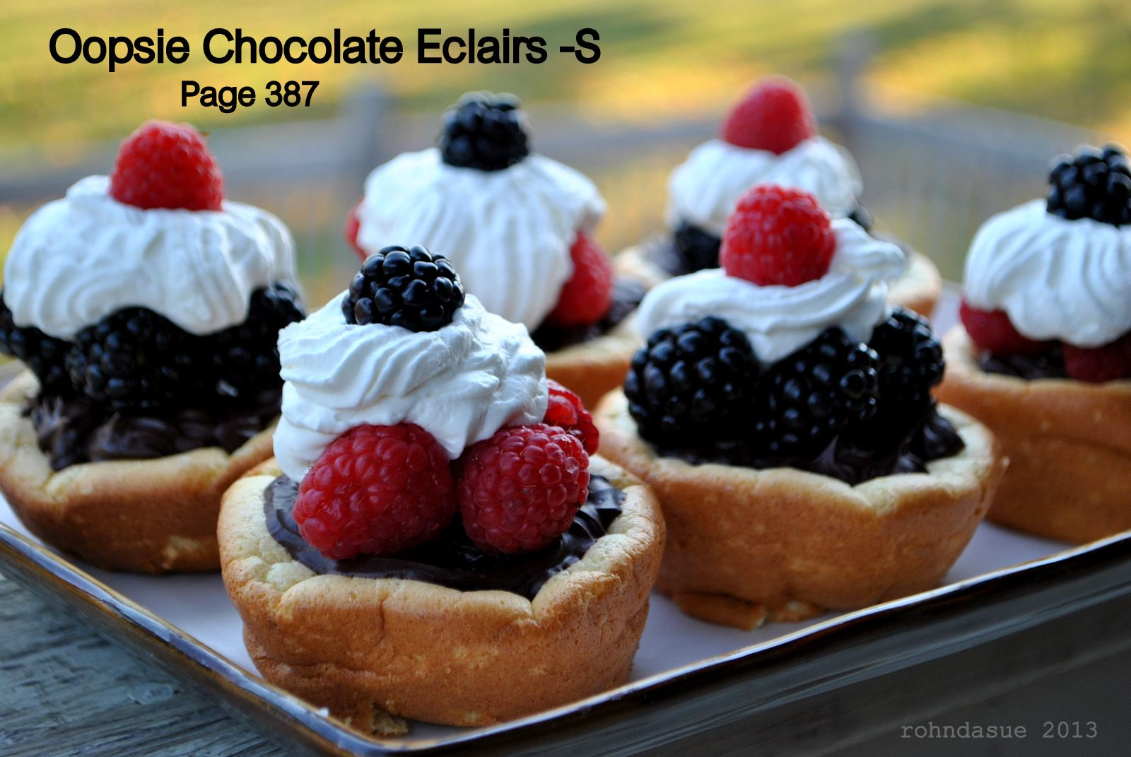 Oopse Chocolate Eclairs -S  Page 387 ... Because it is Tea Party time somewhere!