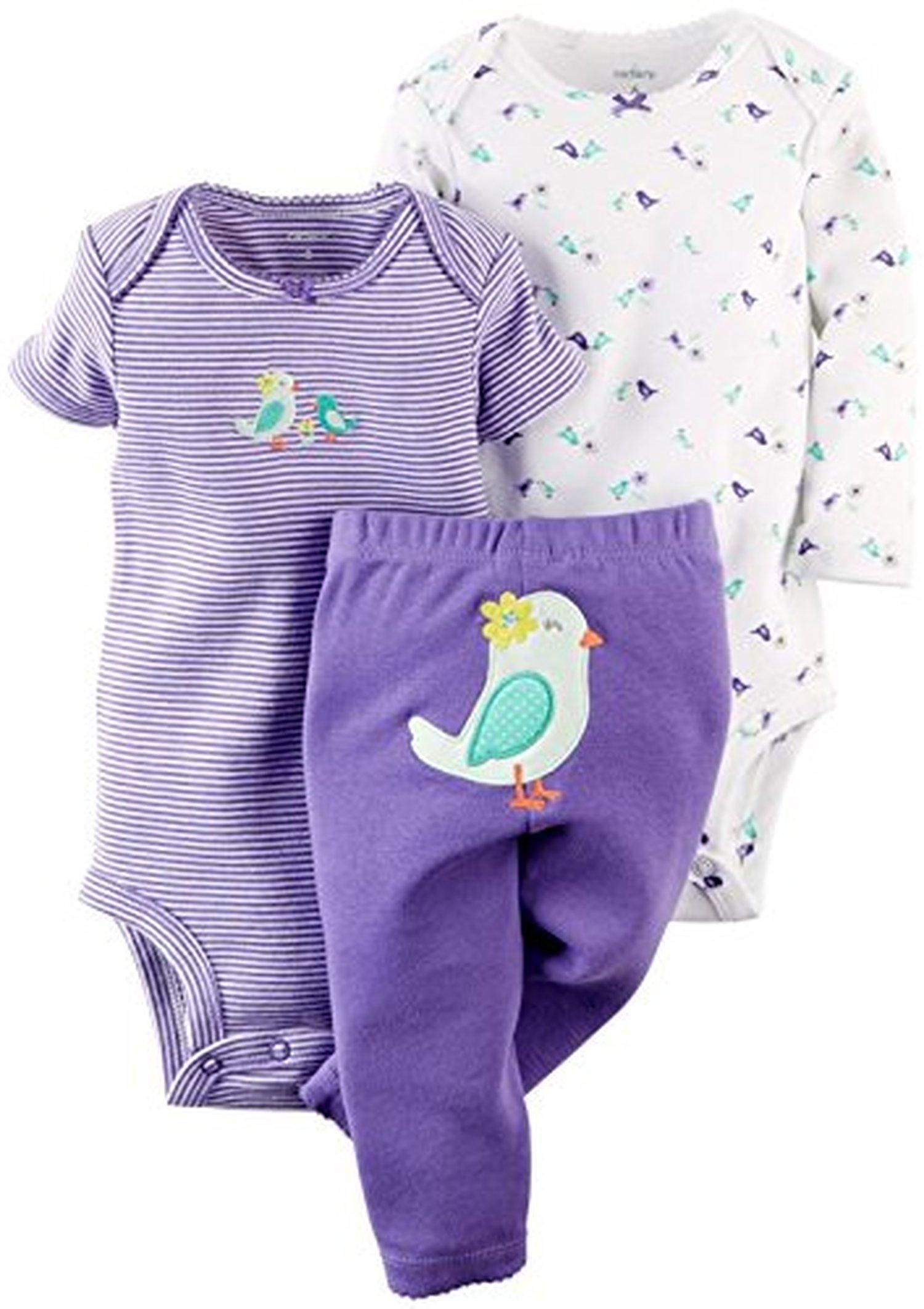 4be6f9d22 Carter's Baby Girls' 3 Piece Take Me Away Set (Baby) - Bird - 6M - Brought  to you by Avarsha.com