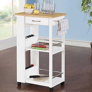 $89 at Walmart | Kitchen cart, Narrow kitchen, Kitchen