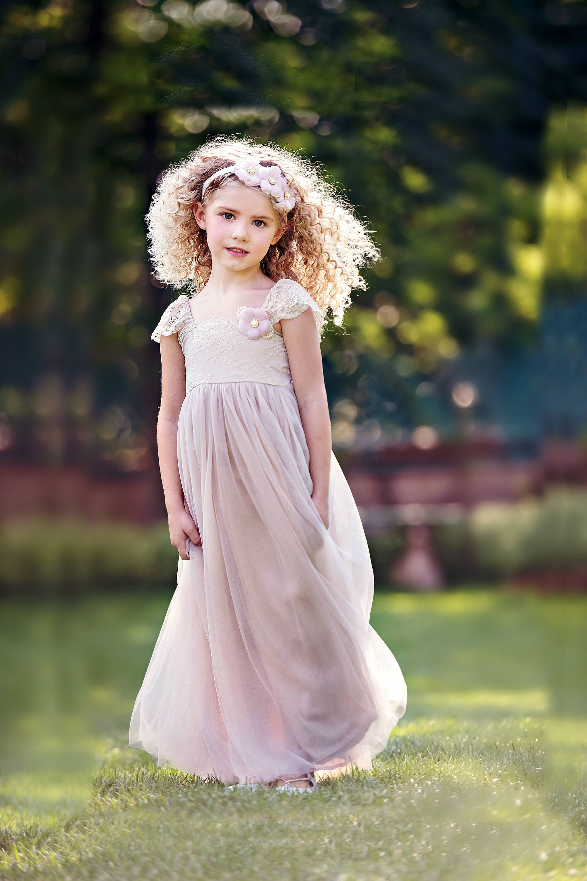 Flower Girl Dress Flower Girl Dresses Blush Mauve Pink Lace Flower