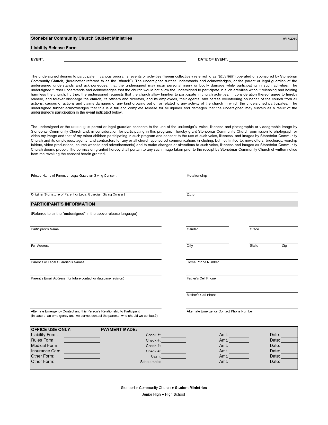 Free Printable Liability Form Form Generic Sample Printable Legal Forms For Attorney Lawyer Legal Forms Free Basic Templates Real Estate Forms