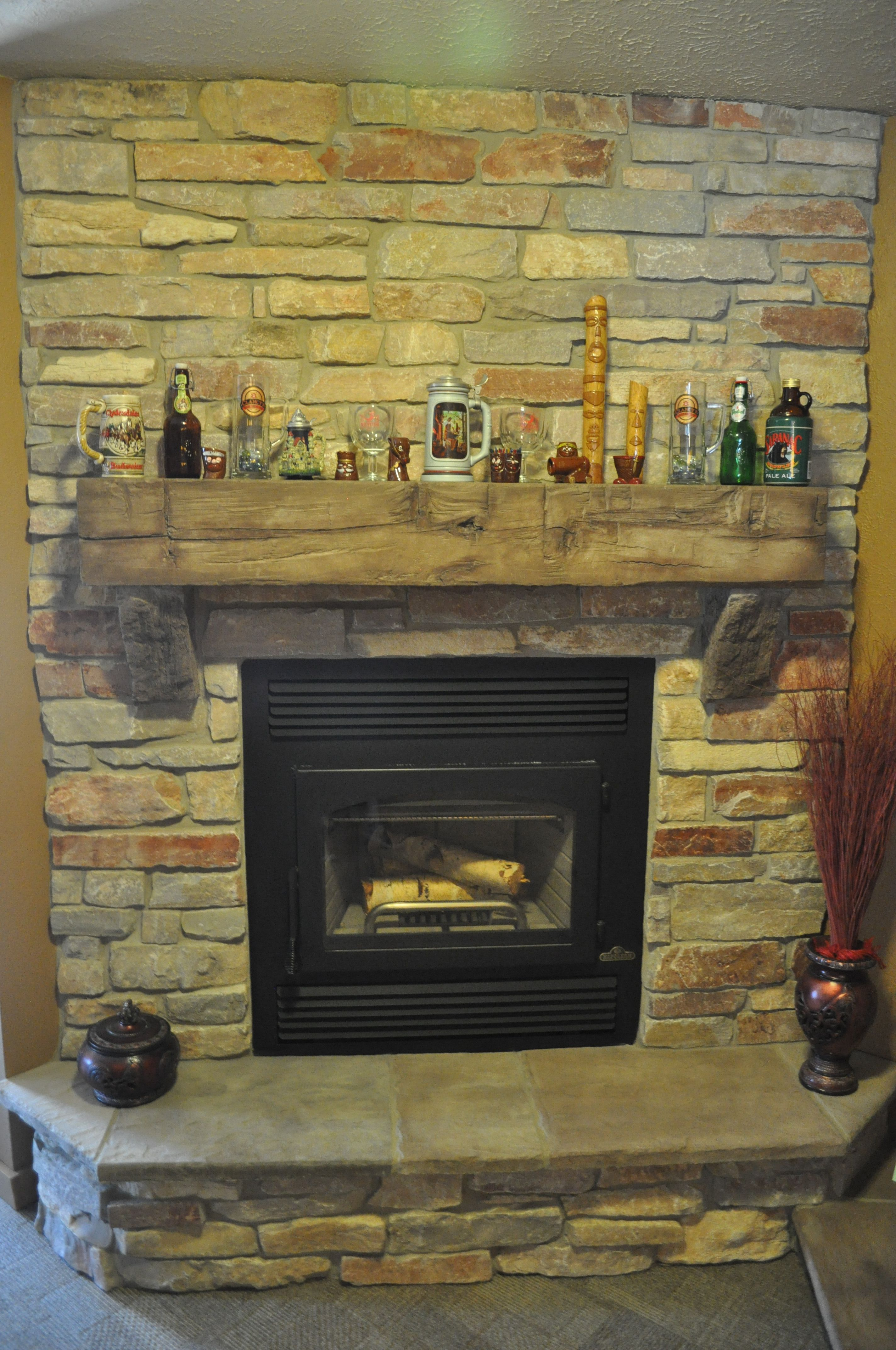 Natural Stone Fireplaces stones fireplace with barn beam mantle and natural stone j&n stone