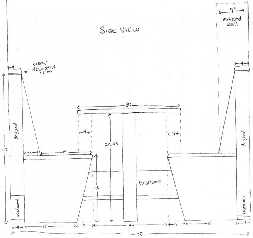 Kitchen Booth Plans | Kitchen booths, Restaurant booth ...
