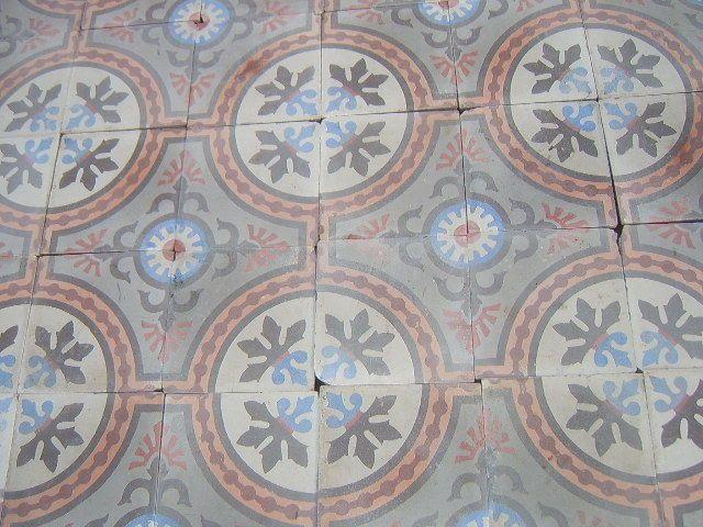 36 antique French floor tiles