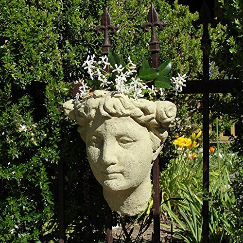 Designer Stone Ladys Head Wall Planter Check This Awesome Product By Going To The Link At The Image Festa Das Flores Esculturas Jardinagem