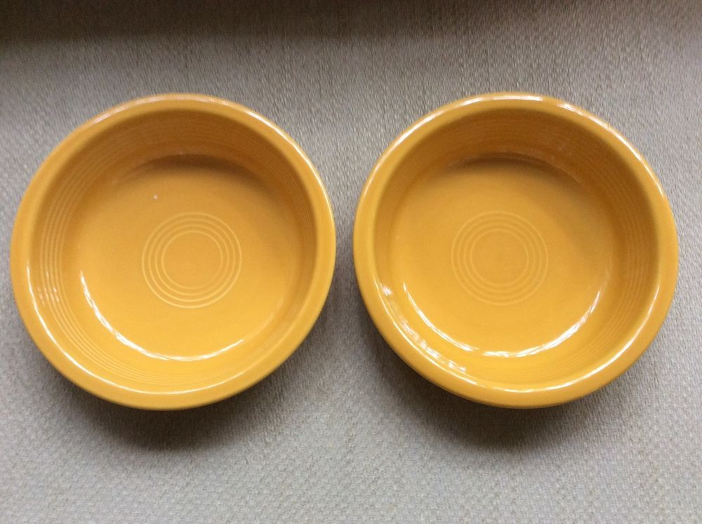Fiesta Fiestaware Marigold 7u201d Coupe Soup Cereal Bowl 75th Anniversary Lot of 2 | Pottery & Fiesta Fiestaware Marigold 7u201d Coupe Soup Cereal Bowl 75th ...