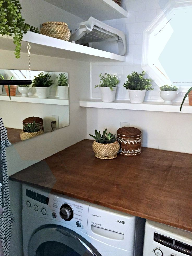 Laundry Room Makeover: DIY Plywood Countertop | Laundry ...