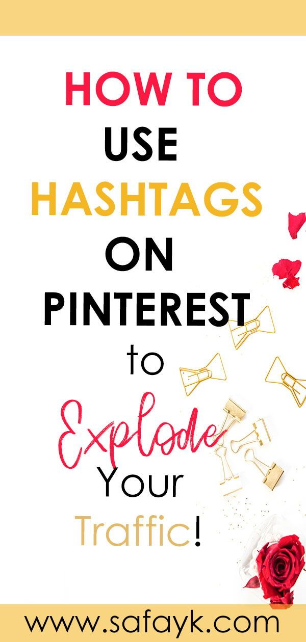 How to Use Hashtags on Pinterest #articlesblog