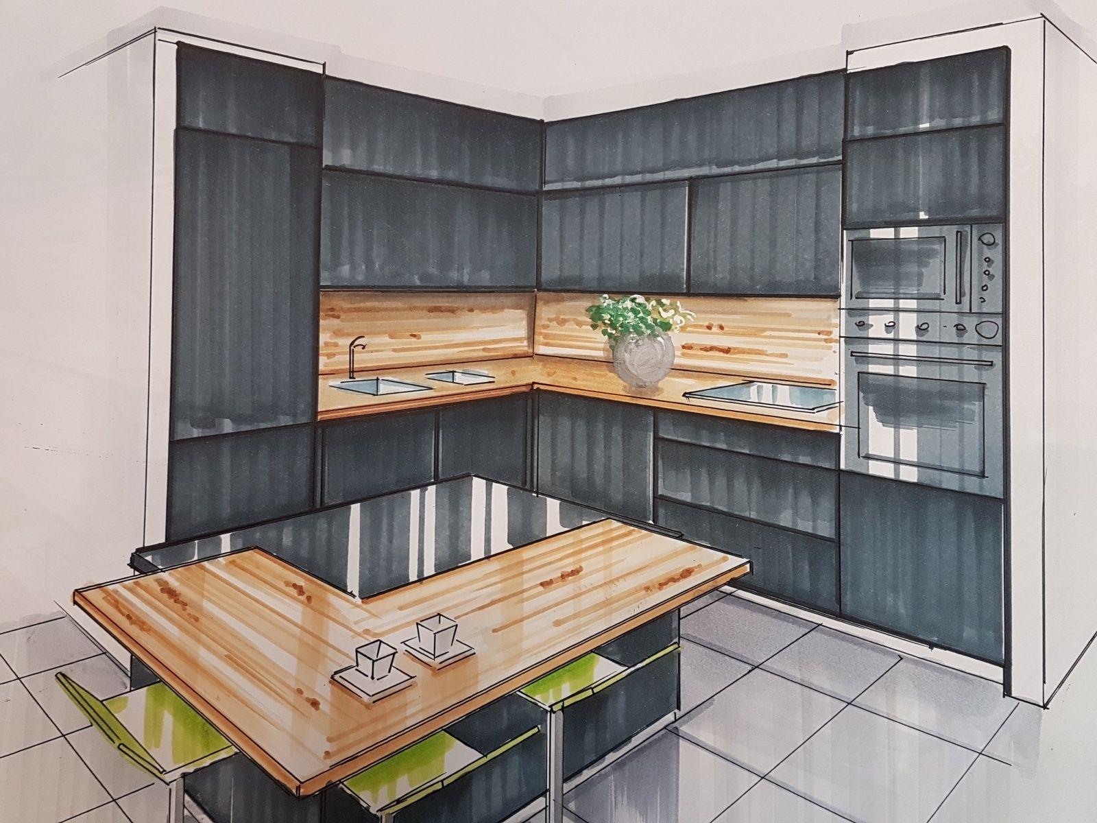 Cuisine Noire Blog D 39 Elise Fossoux Deco En 2020 Cuisine Noire Meuble Cuisine Cuisine Blanche Et Bois