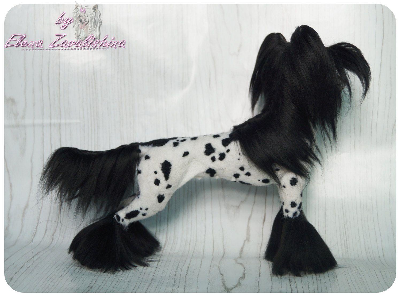Chinese Crested Dog Felted Needle