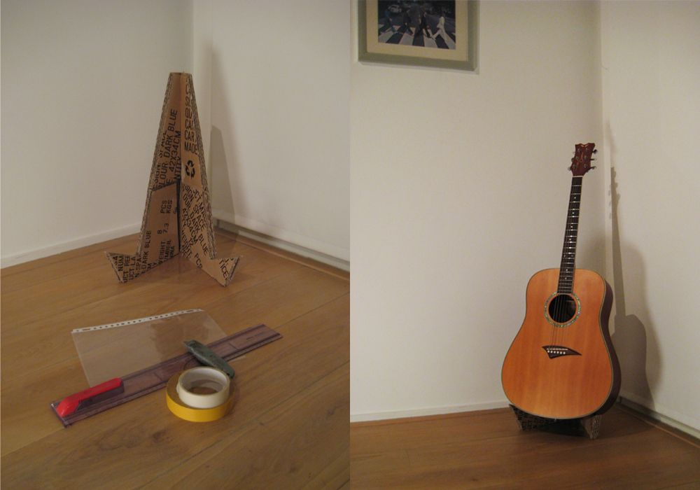 Cardboard Guitar Stand By Anthony Smith Guitar Stand Pinterest