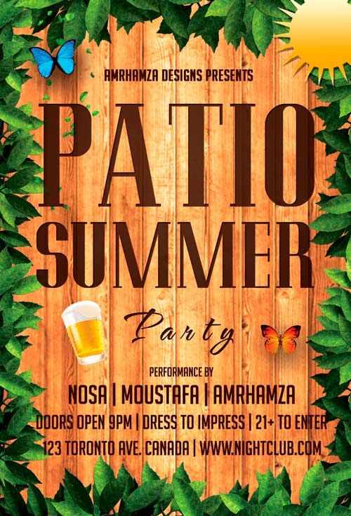Free Patio Summer Flyer Template - http\/\/freepsdflyer\/free - summer flyer template