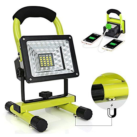 Led Work Light With Magnetic Stand 15w 24 Led Rechargeable Shop Light Portable Outdoor Camping Spotlights Wi Led Work Light Work Lights Rechargeable Work Light