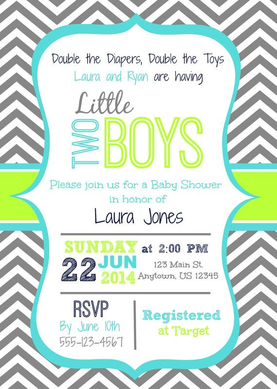 Pin By Abby Evrard On Twins Baby Shower Invitations For
