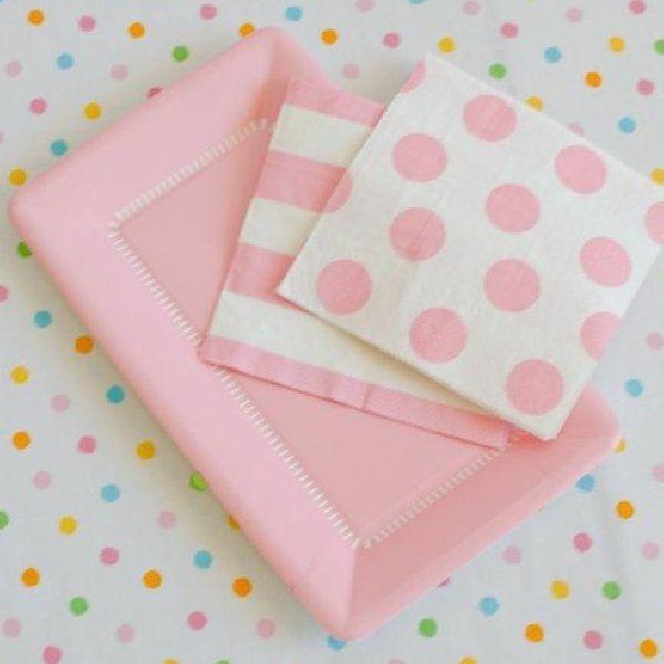 Explore Paper Plates Paper Napkins and more!  sc 1 st  Pinterest & Happy Wish Company Light Pink Cafe Plates u0026 Napkins » Make your ...