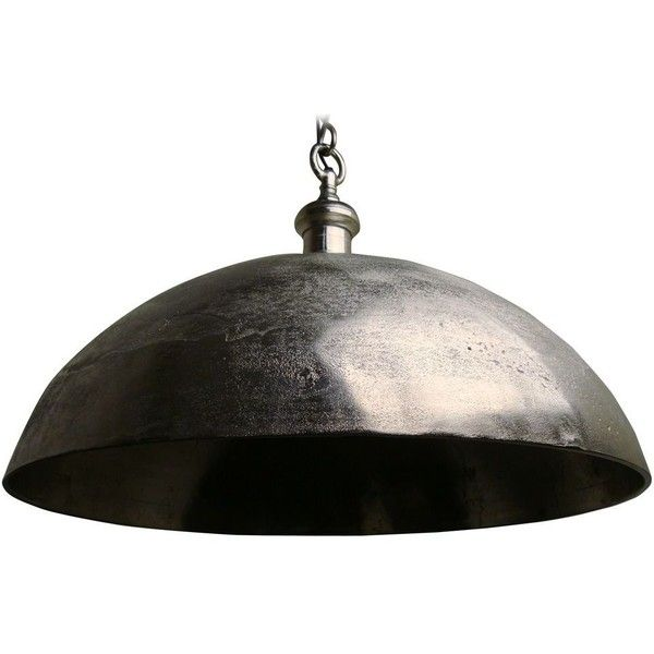 Large Rustic Pendant Light With Metal Bowl Shade 10 640 Mxn Liked On Polyvore Featuring Home Lighting Ceiling Lights