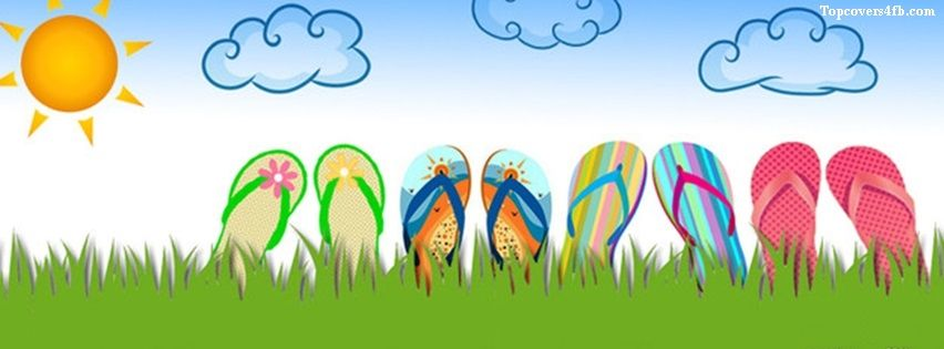 Get our best Summer Flip Flops facebook covers for you to use on your facebook profile.